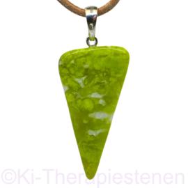 """Lizardiet,  """"Noorse Jade"""", AA kwaliteit    hanger1x uniek ex."""