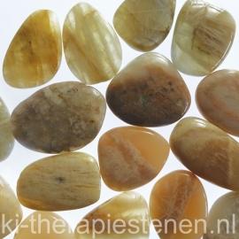 Maansteen (Perthiet) platte edelsteen per st.