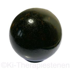 Toermalijn zwart (schorl), Bol ø 6,3 cm 1x uniek ex.