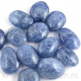 Calciet Blauw A - Q. platte steen per st. (ovaal) klein