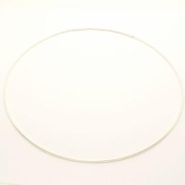 Spang halsketting  zilverkleur 1,5 mm x 45 cm