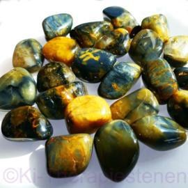 Nellite met Pietersiet A kwaliteit (XL) trommelsteen per st.*