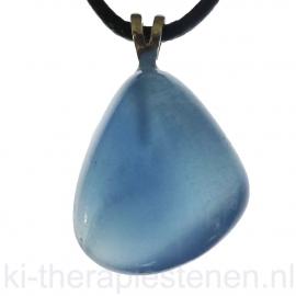 Lemurian Aquatine Calcite (Onyx marmer, blauwe)  AA kwaliteit hanger