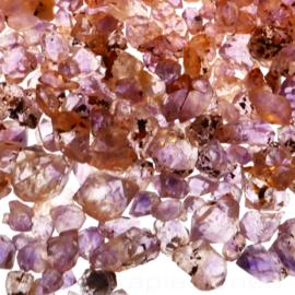 Amethist kleine transparante kristallen (Zambia) 125 gr.