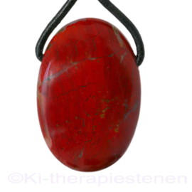 Jaspis, rode hanger groot  per st.
