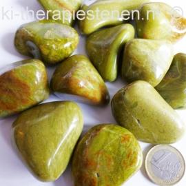 Groene Opaal  trommelsteen  (XL) per st.