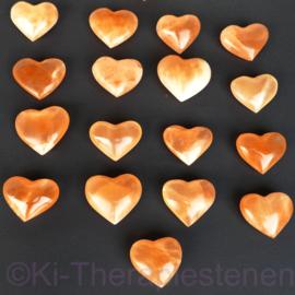Seleniet Oranje Hart ca 6-7 cm *(♥ 5=6)