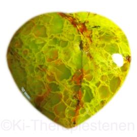 Opaal, Groen hart (Groot) 1x uniek ex.