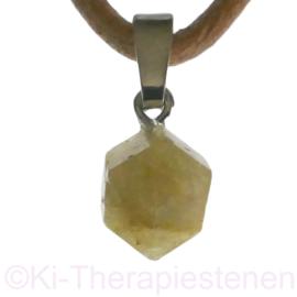 Rhodiziet Meesterkristallen hanger zilv. oogje,  ø  9 mm per st.