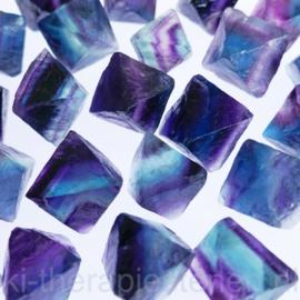 Fluoriet, regenboog oktaeders ø 2-2,5 cm per st. *
