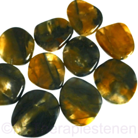 Nellite met Pietersiet platte steen per st.