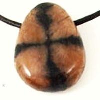 Kruissteen (Chiastoliet) edelsteen hanger geboord Levensopgave Ontdekken en Realiseren