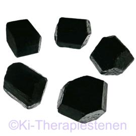 Toermalijn zwart (schorl) kristal, groot,  mét eindvlak p.st.