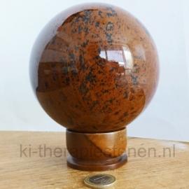Obsidiaan Mahonie Bol  ca 11 cm