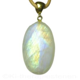 Maansteen, Regenboog  AA kwaliteit L. 4,6 cm 1x Uniek