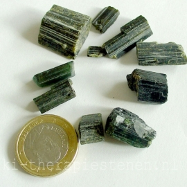Toermalijn, groene Edelsteenwater Set 20 gr. voor watervitalisatie