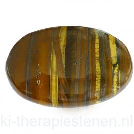 Tijgeroog massagesteen 5x7 cm
