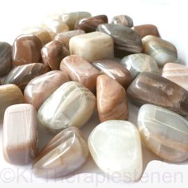 Maansteen trommelsteen (L) per st.*