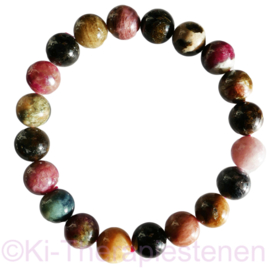 Toermalijn (multicolour) armband ø 10-11 mm.