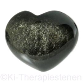 Obsidiaan, Zilver  A kwaliteit Hart per st.
