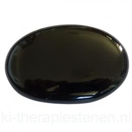 Obsidiaan (Zwart) massagesteen 5x7 cm
