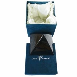 Shungiet, piramide 10 cm, mét Luxe geschenkverpakking