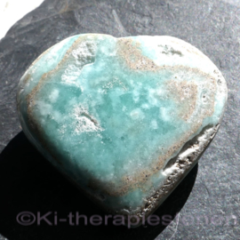 Calciet: Carribean Blue Calciet Hart 1x Uniek.