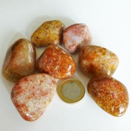 Agaat: Mosagaat Roze trommelsteen (XL) per st.