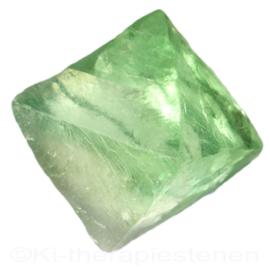 Fluoriet, Jumbo oktaeder ø 5,3 cm groen 1x uniek ex.