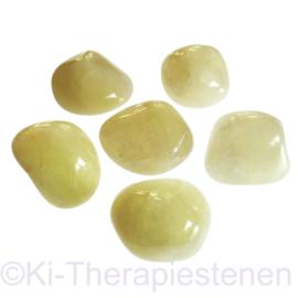 Zwavelkwarts A kwaliteit, trommelsteen (XXL) p.st.