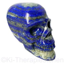 Schedel Lapis Lazuli, L 11,5 cm,  1x uniek ex. (0,9 kg)