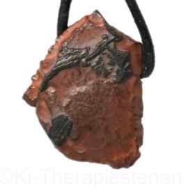 Goethiet-ijzererts- Tsesiet  (TSES-Namibië) hanger geboord per st.