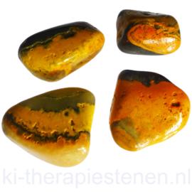 Bumble Bee Jaspis - Eclipssteen  (Auripigment / Realgar) (XL) TS per st.