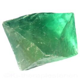 Fluoriet, Jumbo oktaeder ø 5,2 cm groen 1x uniek ex.