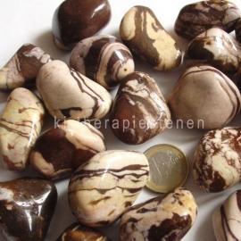 Jaspis: Cappuccino - Zebra  jaspis, TS (XL) per st.