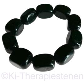 Toermalijn zwarte, Nuggets groot   Armband