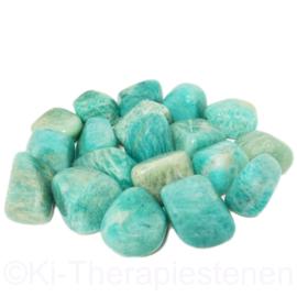 Amazoniet  trommelsteen (XL) per st.