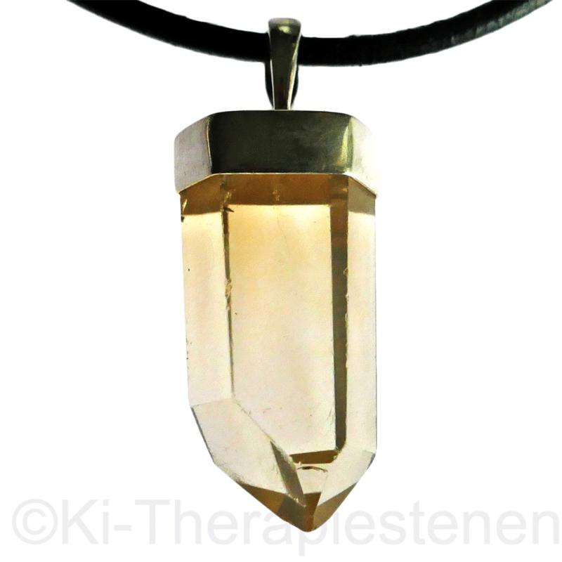 Citrien Kristal  (natuur) gepolijst  hanger A-kwaliteit