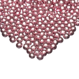 Metallic PINK small choco pearls - Happy Sprinkles