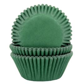 Donker Groene cupcake baking cups House of Marie 50/pk