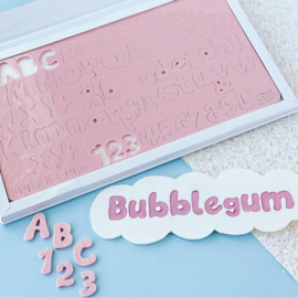 BUBBLE GUM full set en opbergbox Upper & Lowercase Numbers  & Symbols SweetStamp
