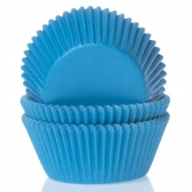House Of Marie MINI Baking Cups Cyaan Blauw 60/Pk