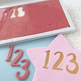 STYLISH set & opbergbox Numbers & Symbols Sweet Stamp