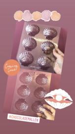 Grote schelp Chocolade mal