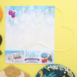 Sweet Stamp CANVAS Transparante TAARTTOPPER