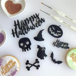 Halloween elements set van 8