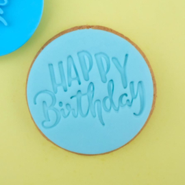 Fun Happy Birthday Cookie/ Cupcake embosser
