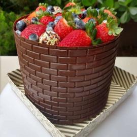Stenen Textuur chocolade mat voor om een taart - porto formas