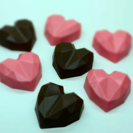 Diamond Heart Small 3 delige chocolade mal