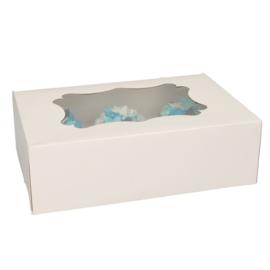 Cupcake doos met venster voor 6 cupcakes